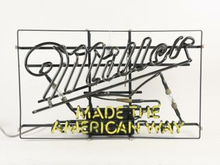 MIllER MADE THE AMERICAN WAY 2 COlOR NEON