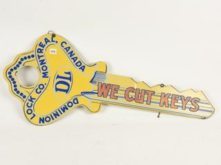 DOMINION lOCK CO  WE CUT KEYS DST SIGN