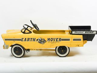 ORIGINAl EARTH MOVER PEDAl CAR WITH PAYlOAD DUMP