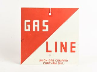 UNION GAS GAS lINE S S PAINTED METAl POST SIGN