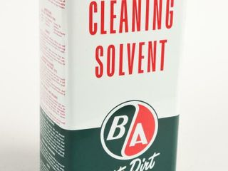 B A  GREEN RED  ClEANING SOlVENT IMP  GAlS  CAN