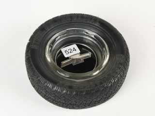 STEEl BElTED RADIAl TIRE ASHTRAY   CHEVY lOGO