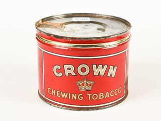 CROWN CHEWING TOBACCO CUT OFF CANISTER