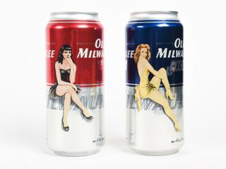 lOT 2 OlD MIlWAUKEE BEER 473 Ml PUll TOP CANS
