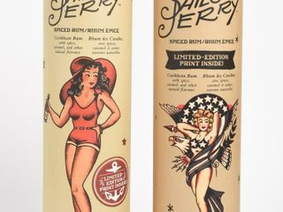 2 SAIlOR JERRY SPICE RUM lIMITED EDITION BOTTlES