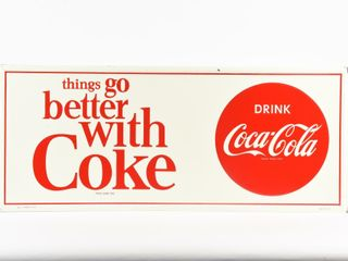 DRINK COCA COlA  THINGS GO BETTER  SST SIGN