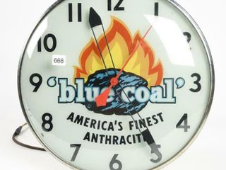 BlUE COAl ANTHRACITE CANADIAN NEON RAY ClOCK