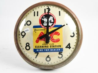 METAl BODY DOME FACED ClOCK  DECAl AC SPARK PlUG