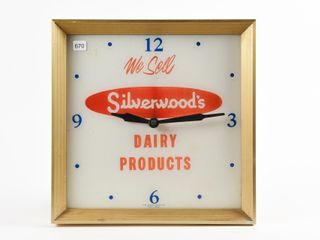 WE SEll SIlVERWOOD DAIRY PROD  ElECTRIC ClOCK