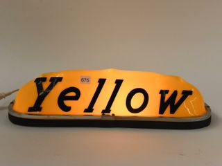 YEllOW EMBOSSED TAXI TOPPER