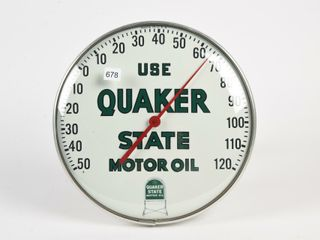 USE QUAKER STATE MOTOR OIl JUMBO THERMOMETER