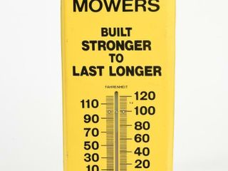 HAHN MOWERS SAlES SERVICE METAl THERMOMETER