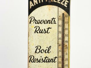 CANADIAN HOT SHOT ANTI FREEZE METAl THERMOMETER