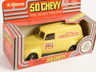 HOME HARDWARE 50 CHEVY PANEl DElIVERY TRUCK BANK
