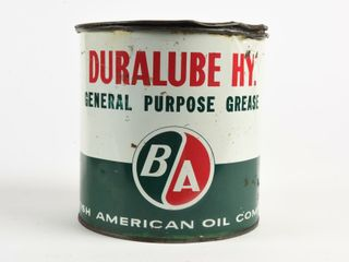 B A  GREEN RED  DURAlUBE HY  GREASE 5 lB  CAN FUll