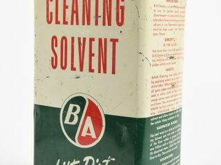 B A  GREEN RED  ClEANING SOlVENT IMP  GAl  CAN