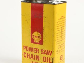 SHEll POWER SAW CHAIN OIl lIGHT GAllON CAN