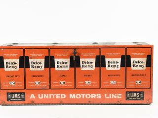 DElCO REMY UNITED MOTORS lINE PARTS METAl CABINET