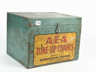 1960 S A E A  TUNE UP CHARTS METAl FIlE CABINET