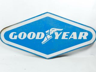 GOODYEAR S S PAINTED METAl GARAGE SIGN