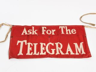 ASK FOR THE TElEGRAM CANVAS APRON