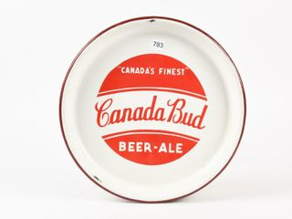 CANADA BUD PORCElAIN BEER TRAY CIRCA 1930 S   40 S