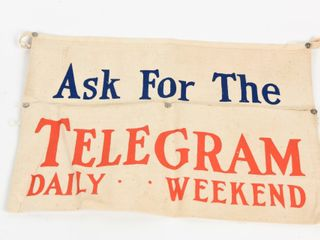 ASK FOR THE TElEGRAM DAIlY WEEKEND CANVAS APRON