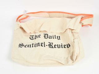 THE WOODSTOCK DAIlY SENTINEl REVIEW NEWSPAPER BAG