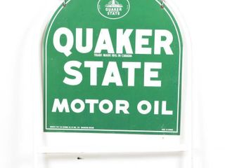 QUAKER STATE MOTOR OIl TOMBSTONE SIDEWAlK SIGN