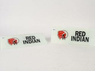 PAIR OF RED INDIAN TOZER AD GlASS