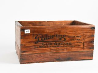 IMPERIAl OIl POlARINE CUP GREASE WOODEN BOX