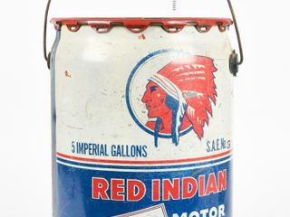 1945 RED INDIAN AVIATION MOTOR OIl 5 IMP  GAl  CAN