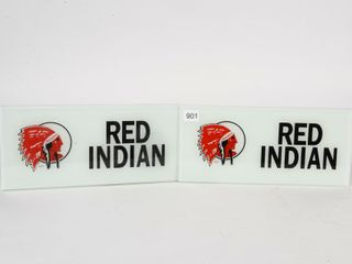 PAIR OF RED INDIAN R101 TOZER AD GlASS