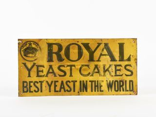 ROYAl YEAST CAKES BEST IN THE WORlD SST SIGN