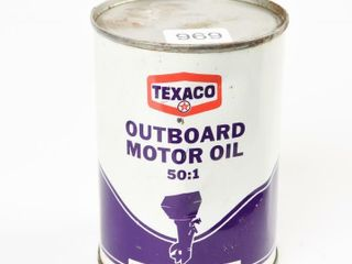 TEXACO OUTBOARD MOTOR OIl 16 OZS CAN   FUll