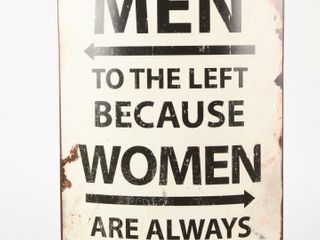 MEN TO THE lEFT BECAUSE WOMEN AlWAYS RIGHT SIGN