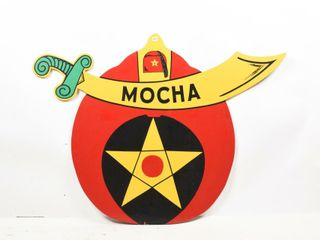 MOCHA S S PAINTED WOOD SIGN