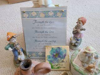 Assorted figurines Including 1 precious moments
