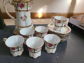 14 pcs  Set of NIPPON CHINA TEA SET