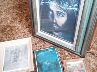 Religious Framed Art lot of 4