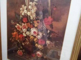 Framed Floral Decor 31 x 25 in
