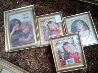 Gold Tone Picture Frames lot of 4