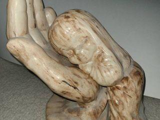 Isiah 49 15 Ceramic Sculpture 10 x 11 x 6 in
