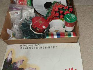 Christmas lights and Ribbon
