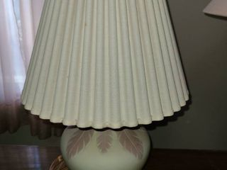 Pink and White Table lamp