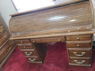Rolltop Desk 5 Drawer 42 x 48 x 21 in