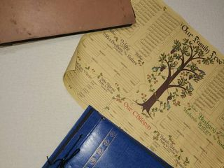 Vintage Photo Albums with Family Tree