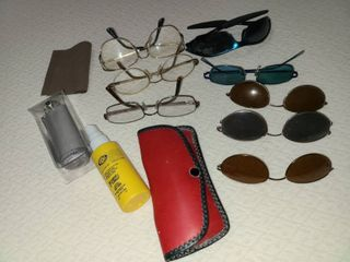 Glasses and Sunglasses with Case and Cleaning Accessories