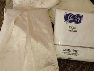 King Size Sheets 2 Pillow Shams and Bedskirt