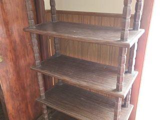 Wood Shelf 5 Shelves 59 x 34 x 15 in